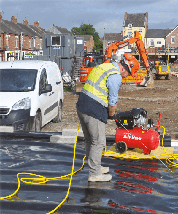 GeoShield Ground Gas Membrane Testing